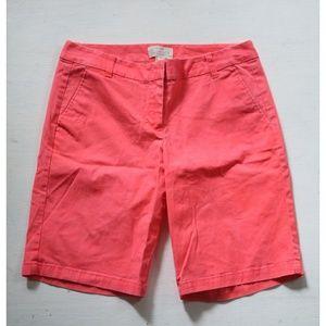 J. Crew Pink Flat Front Bermuda Shorts Size 4